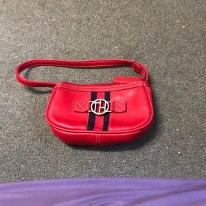 Red vintage 90's Tommy Hilfiger purse